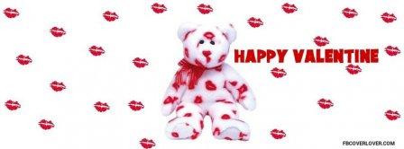 Teddy Bear Valentine Kisses Facebook Covers