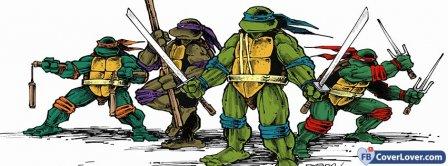 Teenage Mutant Ninja Turtles Cartoon Facebook Covers