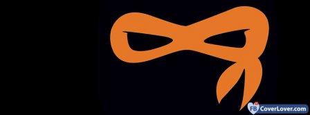 Teenage Mutant Ninja Turtles Orange Mask Facebook Covers