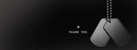 Thank You Veterans Dog Tags Facebook Covers