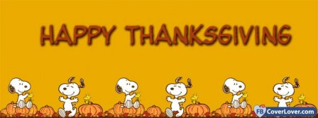 Happy Thanks Giving Snopy Facebook Covers