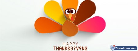 Happy Thanks Giving Turkey 2 Facebook Covers