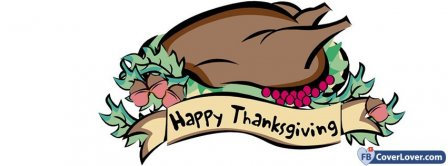 Happy Thanks Giving Turkey 3 Facebook Covers