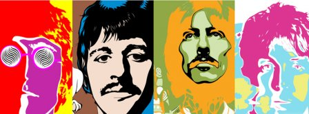 The Beatles Artistic View Facebook Covers