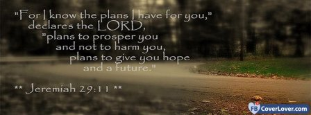 The Plans I Have For You Jeremiah 29 11 Facebook Covers