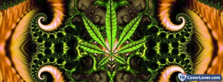 Trippy Weed  Facebook Covers