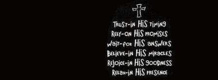 Trust Jesus Facebook Covers