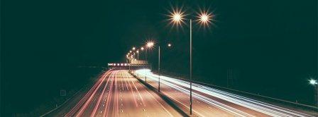 Urban Light Road Facebook Covers