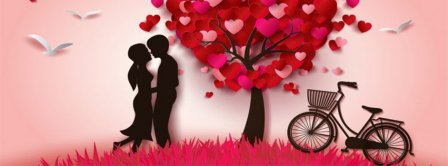 Valentine Day Couple Facebook Covers