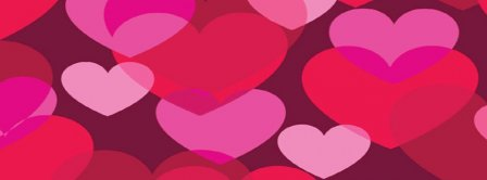 Valentine Day Hearts Cloud Facebook Covers