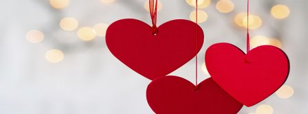 Valentine Day Hearts Light Facebook Covers