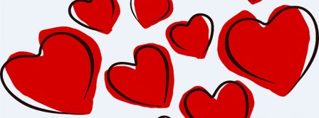 Valentine Day Red Hearts Facebook Covers