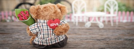 Valentine Day Teddy Bear Facebook Covers
