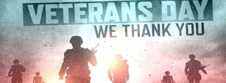 Veterans Day We Thank You Facebook Covers