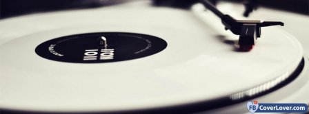White Vinyl Player Facebook Covers