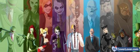 Batman Vilains Cartoon Facebook Covers