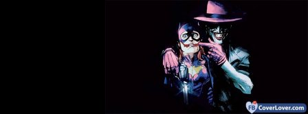 The Joker And Batgirl Facebook Covers