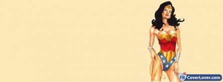 Wonder Woman Cartoon Facebook Covers