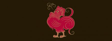 Year Red Cock Rooster 2017 Facebook Covers