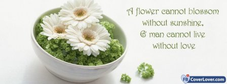 A Flower Cannot Blossom  Facebook Covers