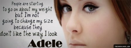 Adele Quote Facebook Covers