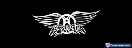 Aerosmith Logo Black Background Facebook Covers