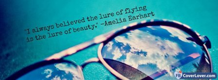 The Lure Of Beauty Amelia Earhart Facebook Covers