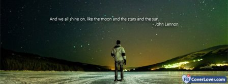 And We All Shine On Lyrics   Facebook Covers