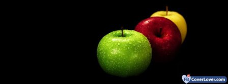 Three Colorful Apples  Facebook Covers