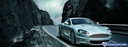 Aston Martin Silver  Facebook Covers