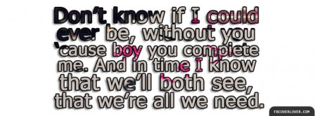 Perfect Two Lyrics 2 Facebook Covers