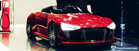 Audi R8 Red Facebook Covers
