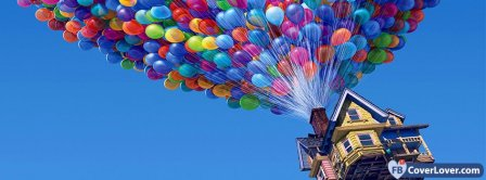 Up Balloons Facebook Covers