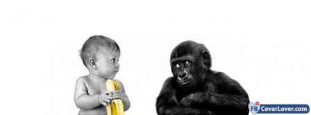 Banana Monkey Baby Facebook Covers
