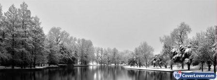 Beautiful Winter Snowy Lake Facebook Covers