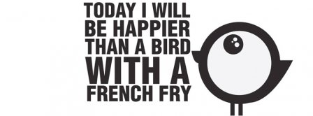 Bird With A French Fry Facebook Covers