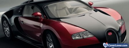Black And Red Bugatti Veyron Facebook Covers