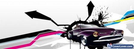 Purple Hot Rod Facebook Covers
