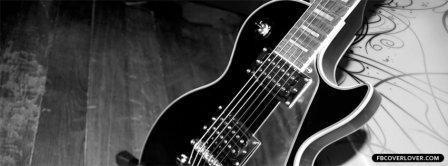 Black Les Paul Guitar Facebook Covers