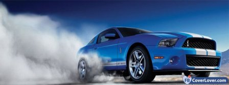 Blue Ford Mustang  Facebook Covers