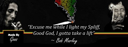 Bob Marley I Light My Spliff Facebook Covers