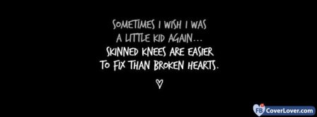 Broken Heart Quote  Facebook Covers