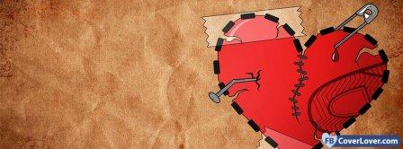 Broken Heart Cartoon 3  Facebook Covers