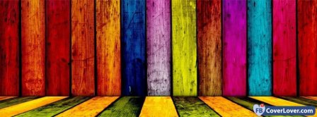 Color Mix Wood  Facebook Covers