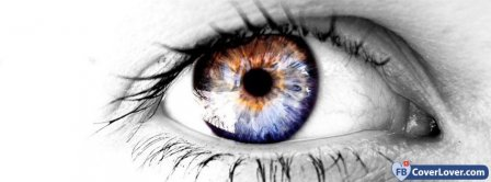 Colored Eye  Facebook Covers