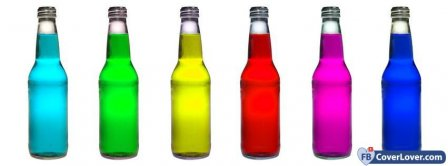 Colorful Bottles  Facebook Covers