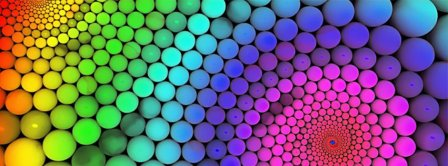 Colorful Molecules Rainbow Facebook Covers