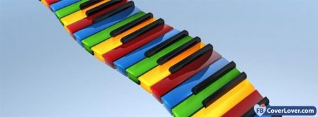 Colorful Piano  Facebook Covers