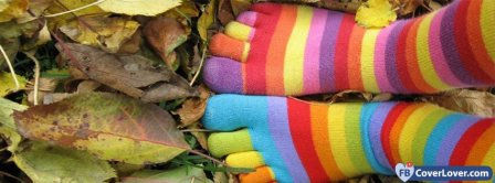 Colorful Socks  Facebook Covers