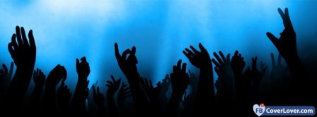 Concert Crowd Blue Light Facebook Covers